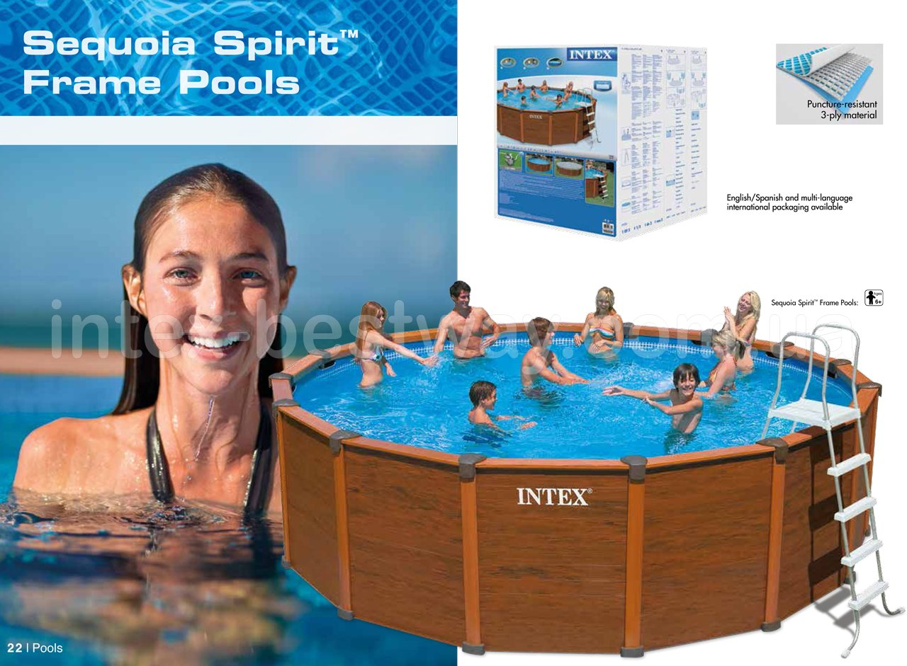 Круглые каркасные бассейны Intex Sequoia Spirit Frame Pools